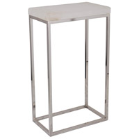 Sebastian 21 X 12 inch White Marble/Satin Nickel Side Table