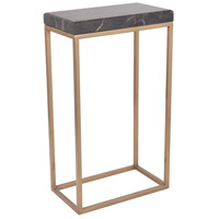 Mariana 180070 Sebastian 12 X 7 inch Black Marble/Coffee Bronze Side Table Home Decor