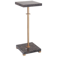 Fletcher 8 X 8 inch Marble/Brass Accent Table Home Decor