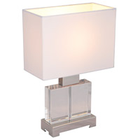 Oliver 15 inch 60 watt Crystal/Satin Nickel Table Lamp Portable Light