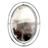 Pinball 33 X 25 inch Satin Nickel Wall Mirror Home Decor