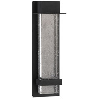 Alpine LED 16 inch Black Outdoor Wall Lamp, Small