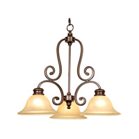 Mariana Aspen 3 Light Chandelier in Oil Rubbed Bronze 200390