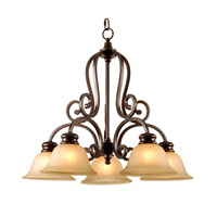 Mariana Aspen 5 Light Chandelier in Oil Rubbed Bronze 200590