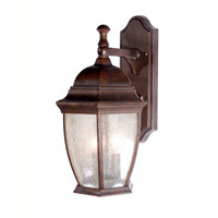 Signature 3 Light 10 inch Heritage Bronze Outdoor Wall Lantern