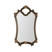 Signature 44 X 25 inch Black and Gold Mirror Home Decor