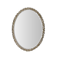 Silver 30 X 27 inch Brushed Silver Mirror Home Decor