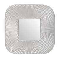 Silver 24 X 24 inch Brushed Silver Wall Mirror