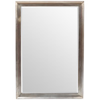 Silver 39 X 27 inch Brushed Silver Wall Mirror