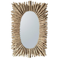 Endora 40 X 26 inch White Washed Mirror Home Decor