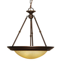 Loft 3 Light 20 inch Oil Rubbed Bronze Pendant Ceiling Light