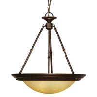 Mariana 221990 Loft 3 Light 20 inch Oil Rubbed Bronze Pendant Ceiling Light