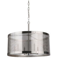 Mariana 232445 Chicago 6 Light 24 inch Satin Nickel Pendant Ceiling Light