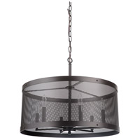 Mariana 232483 Chicago 6 Light 24 inch Bronze Pendant Ceiling Light
