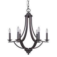 Dapper 6 Light 25 inch Oil Rubbed Bronze Chandelier Ceiling Light