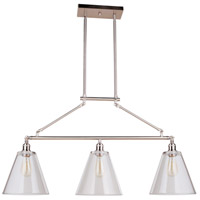 Mariana 243345 Mylin 3 Light 57 inch Brushed Nickel Island Pendant Ceiling Light