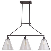 Mariana 243383 Mylin 3 Light 57 inch Bronze Island Pendant Ceiling Light