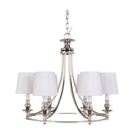Mariana Metropolitan 6 Light Chandelier in Polished Nickel  300625