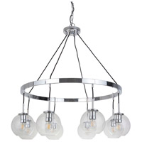 Mariana 300805 Fortune 8 Light 38 inch Chrome Pendant Chandelier Ceiling Light