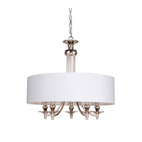 Metropolitan 5 Light 25 inch Polished Nickel Pendant Ceiling Light