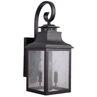 Drake 3 Light 23 inch Black Outdoor Wall Lantern