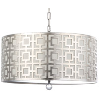 Sydney 4 Light 22 inch Silver Leaf Pendant Ceiling Light