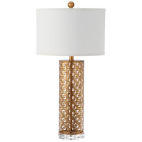 Cairus 29 inch 150 watt Gold Leaf Table Lamp Portable Light