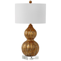 Selina 31 inch 150 watt Gold Table Lamp Portable Light