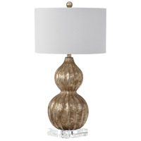 Selina 31 inch 150 watt Silver Table Lamp Portable Light