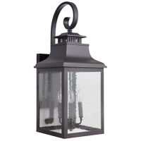 Drake 4 Light 28 inch Black Outdoor Wall Lantern