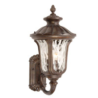 Signature 3 Light 11 inch Heritage Bronze Outdoor Wall Lantern