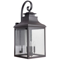 Drake 4 Light 31 inch Black Outdoor Wall Lantern