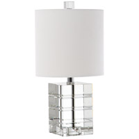 Adelle 17 inch 60 watt Etched Crystal Table Lamp Portable Light