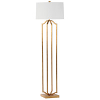 Deacon 63 inch 150 watt Gold Leaf Floor Lamp Portable Light
