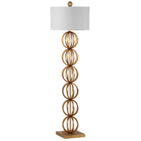 Maxim 63 inch 150 watt Gold Leaf Floor Lamp Portable Light