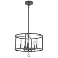 Mariana 341681 Swindell 5 Light 16 inch Black Iron Dual Mount Pendant Ceiling Light