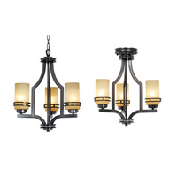 Uptown 3 Light 20 inch New Aged Bronze Chandelier Ceiling Light