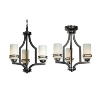 Mariana Uptown 3 Light Chandelier in Satin Nickel 350345