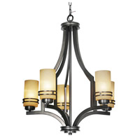 Mariana Uptown 5 Light Chandelier in New Aged Bronze 350532