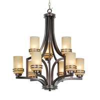 Mariana Uptown 9 Light Chandelier in New Aged Bronze 350932