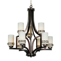 Mariana Uptown 9 Light Chandelier in Satin Nickel 350945