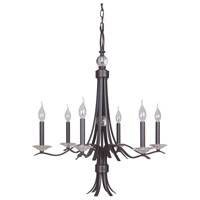 Contessa 6 Light 28 inch Bronze Chandelier Ceiling Light