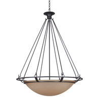 Mariana Ecliptic 5 Light Pendant in Urban Bronze 393583