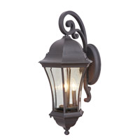 Mariana Signature 3 Light Outdoor Lantern in Heritage Bronze 409112