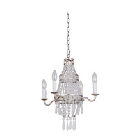 Mariana Mini Bauble 1 Light Mini Chandelier in Antique Silver Leaf 420414
