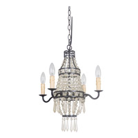 Mini Bauble 1 Light 16 inch Urban Bronze Mini Chandelier Ceiling Light