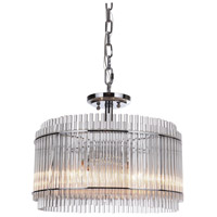 Swizzle Stick 4 Light 18 inch Nickel Pendant Ceiling Light