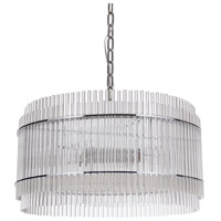 Swizzle Stick 4 Light 22 inch Nickel Pendant Ceiling Light