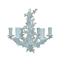 Snow 6 Light 29 inch White Coral and Resin Chandelier Ceiling Light
