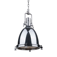 Bentley 1 Light 14 inch Chrome Pendant Ceiling Light